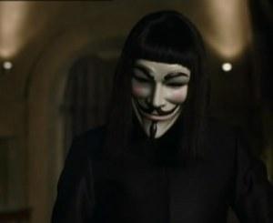 """salah satu adegan dalam film """"V For Vendetta"""""""